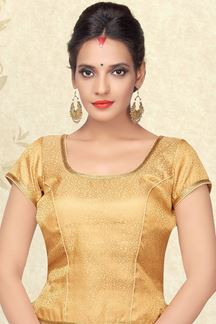 Picture of Sassy self designed gold brocade blouse