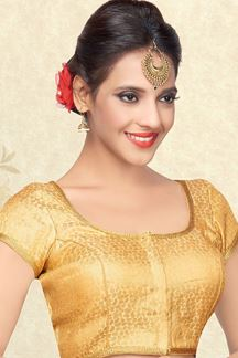 Picture of Mesmerizing gold self designer blouse
