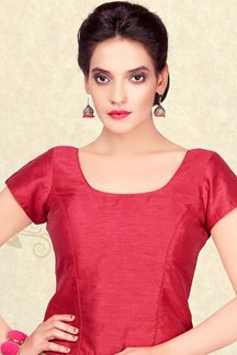 Picture of Gorgeous maroon designer plain blouse