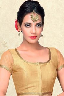 Picture of Glamorous gold designer plain blouse