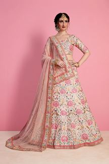 Picture of Delightful Pastel Peach Bridal Lehenga Set