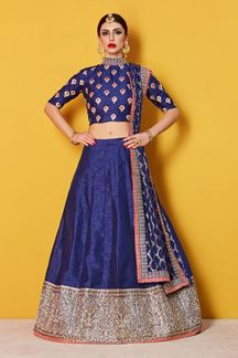 Picture of Polished Royal blue designer lehenga set