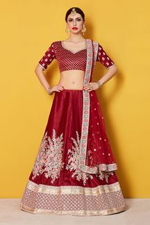 Picture of Beguiling Maroon Designer Lehenga Choli Set