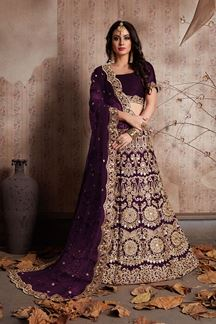 Picture of Classic violet designer lehenga choli set