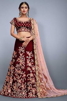 Picture of Mystical deep red designer lehenga choli