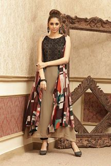Picture of Classic Multi-colored kurti with multicolor cape