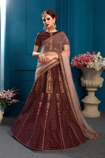 Picture of Eccentric wine designer lehenga choli set