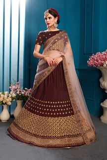 Picture of Gripping brown designer lehenga choli