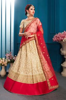 Picture of Regal cream designer lehenga choli set