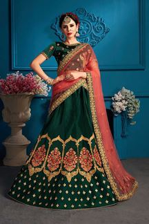 Picture of Captivating green designer lehenga choli