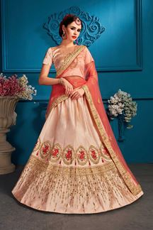 Picture of Exotic light peach designer lehenga choli