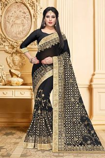 Picture of Mysterious black designer saree