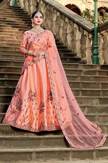 Picture of Transformational peach designer lehenga