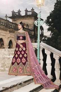 Picture of Essential wine designer lehenga choli set