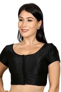 Picture of Upstyle black designer plain blouse