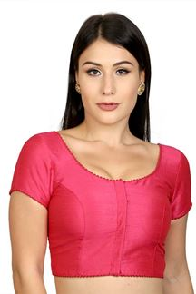 Picture of Timeless pink designer blouse with potli