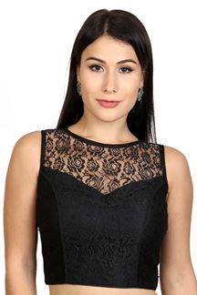 Picture of Exquisite black designer party blouse