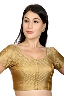 Picture of Tempting gold designer brocade blouse