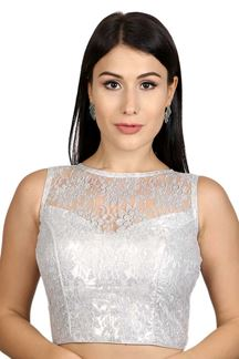 Picture of Classic silver color designer blouse