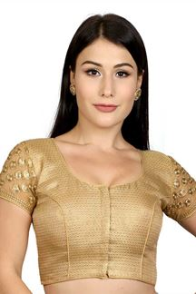Picture of Heavenly gold designer wedding blouse