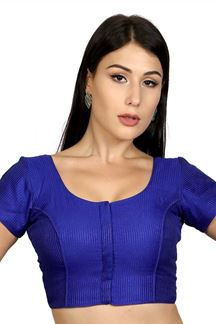 Picture of Haute couture royal blue designer blouse
