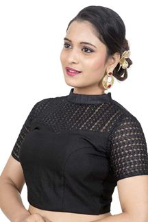 Picture of Signature black designer self blouse