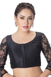 Picture of Glamorous black designer party blouse