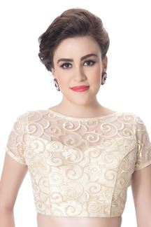 Picture of Angelic ivory designer partywear blouse