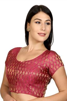 Picture of Outstanding pink designer party blouse