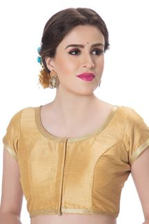 Picture of Heavenly gold designer art silk blouse