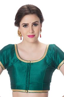 Picture of Regal rama green designer art silk blouse