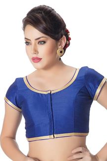 Picture of Stunning blue designer blouse with zari