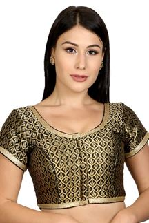 Picture of Flawless black designer brocade blouse