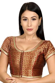 Picture of Glamorous maroon designer blouse