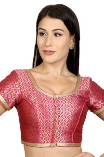 Picture of Lovely pink designer brocade blouse
