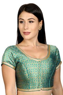 Picture of Appealing blue designer brocade blouse
