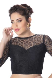 Picture of Luscious black designer party blouse