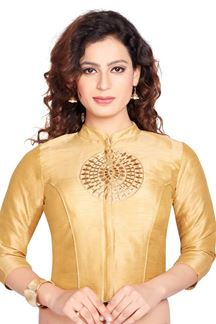 Picture of Novel gold designer corset blouse