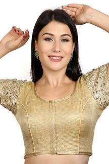 Picture of Enriching gold designer fancy blouse