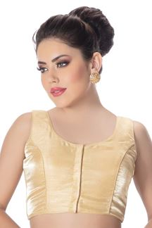 Picture of Impeccable cream-gold designer blouse