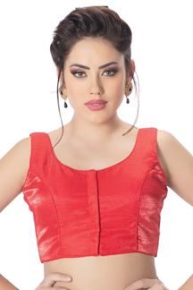Picture of Aspiring red designer plain party blouse