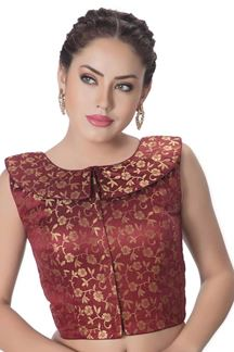 Picture of Remarkable maroon designer blouse