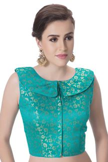 Picture of Delightful firozi blue designer blouse
