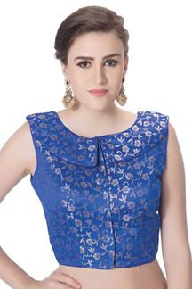 Picture of Classic royal blue designer party blouse