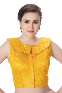 Picture of Auspicious yellow designer blouse