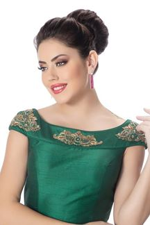 Picture of Classy deep green designer blouse