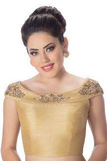 Picture of Stupendous gold designer plain blouse