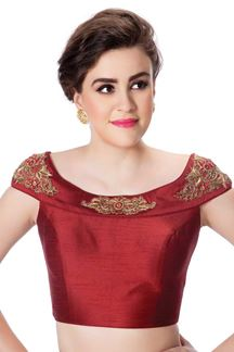 Picture of Distinctive maroon designer blouse