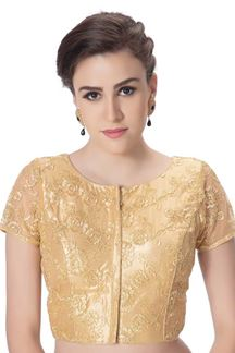 Picture of Atypical gold designer corset style blouse