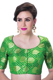 Picture of Refreshing green designer self blouse